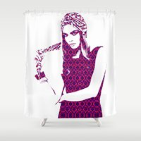cara Shower Curtains featuring Cara Delevingne by fashionistheonlycure