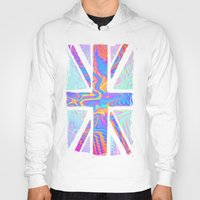 hologram Hoodies featuring Holographic Union Jack  by Berberism