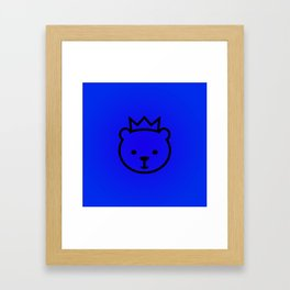 Berlin Bear. Mascot of Berlin Framed Art Print