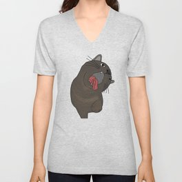 Cat Grab Unisex V-Neck