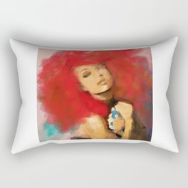 Portrait of a Lady, Natural Redhead Rectangular Pillow