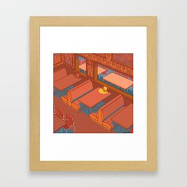 Dots Cafe, Portland Oregon Framed Art Print