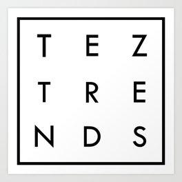Tez Trends Logo Collection Art Print