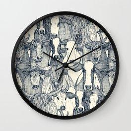 just cattle indigo pearl Wall Clock