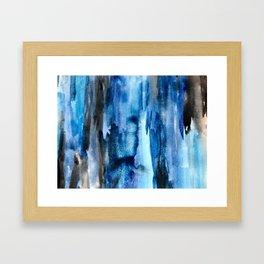 Deep Lapis Framed Art Print