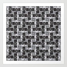 35mm Camera Pattern Art Print