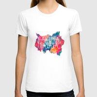 hakuna T-shirts featuring Hakuna Matata Painted Clouds by Caleb Troy