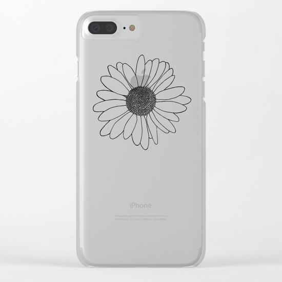 Daisy Boarder Clear iPhone Case
