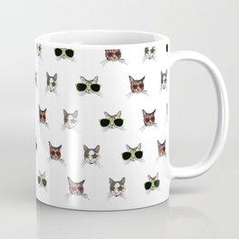 Cats Wearing Sunglasses Pattern Coffee Mug