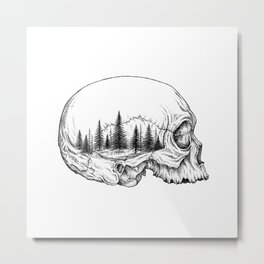 SKULL/FOREST Metal Print