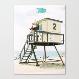 Lifeguard Station in Laguna Beach Canvas Print