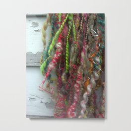 Art Yarn Metal Print