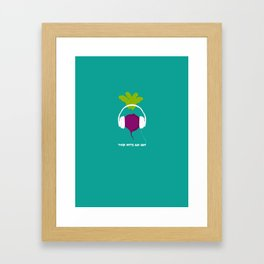These Beets are Dope Framed Art Print