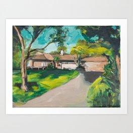 Golden Girls,Each View is an Postcard.... Art Print