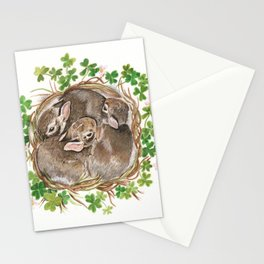 Bunny Nest Stationery Cards