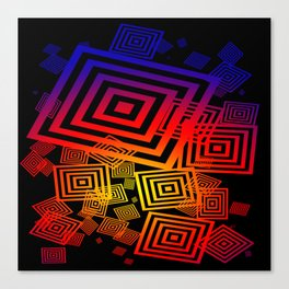 vector squares / black Canvas Print
