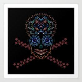 Marine Creatures Skull Art Print