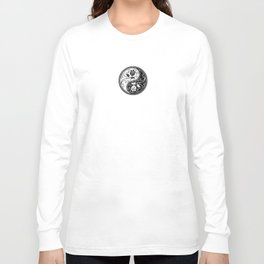 Black and White Yin Yang Roses Long Sleeve T-shirt