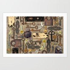 Lock Art Print
