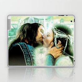 King and Queen kissing Laptop & iPad Skin