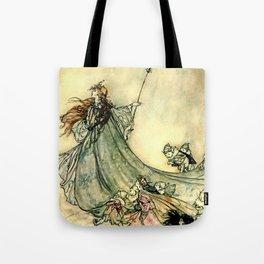 """Queen of the Fairies"" by Arthur Rackham Midsummer's Night Tote Bag"