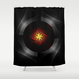 Out of the dark Shower Curtain