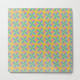Vibrant Psychedelic Pattern Metal Print