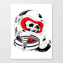 chopped in space Canvas Print