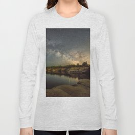 Milkyway at Halibut Point State Park quarry Long Sleeve T-shirt