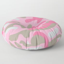 Pink Camo Pattern Floor Pillow