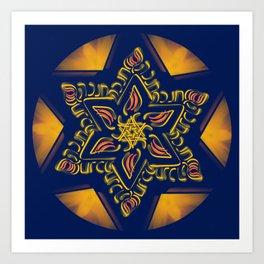 Hanukkah Star of David - 2 Art Print
