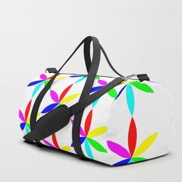6 Petal Flowers Multi Color Duffle Bag