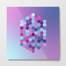 Abstract Metallic Purple Jewel Metal Print