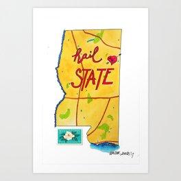 Hail State Art Print