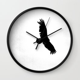 Winter Hawk Wall Clock