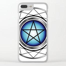 Glowing Pentagram Clear iPhone Case