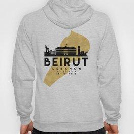 BEIRUT LEBANON SILHOUETTE SKYLINE MAP ART Hoody