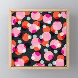 Hanuda - Abstract Colorful Retro Dots Vintage Vibe Dotted Pattern Framed Mini Art Print