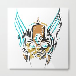 Valkyrie Cat Metal Print