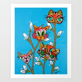 Pussy Willows Art Print