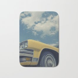 Vintage Yellow Car Bath Mat