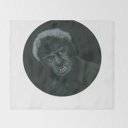 The Wolf Man on vinyl record print Throw Blanket