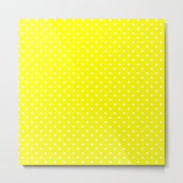 Dots (White/Yellow) Metal Print
