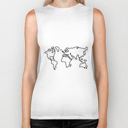world globe Biker Tank