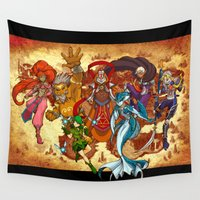 hyrule Wall Tapestries featuring Seven Sages of Hyrule by Jeffrey Carrion