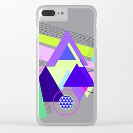 lines and triangles Clear iPhone Case