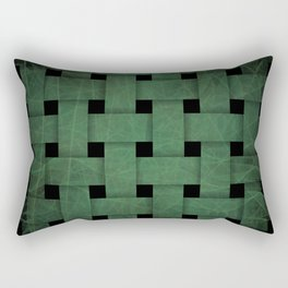 Green Weave Rectangular Pillow