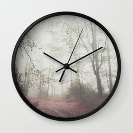 Autumn paths II - Landscape and Nature Photography Wall Clock