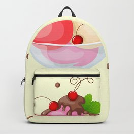 berry ice cream Backpack