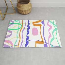 Minimal Lines Abstract Rug